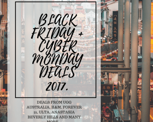 Black Friday + Cyber Monday Deals 2017