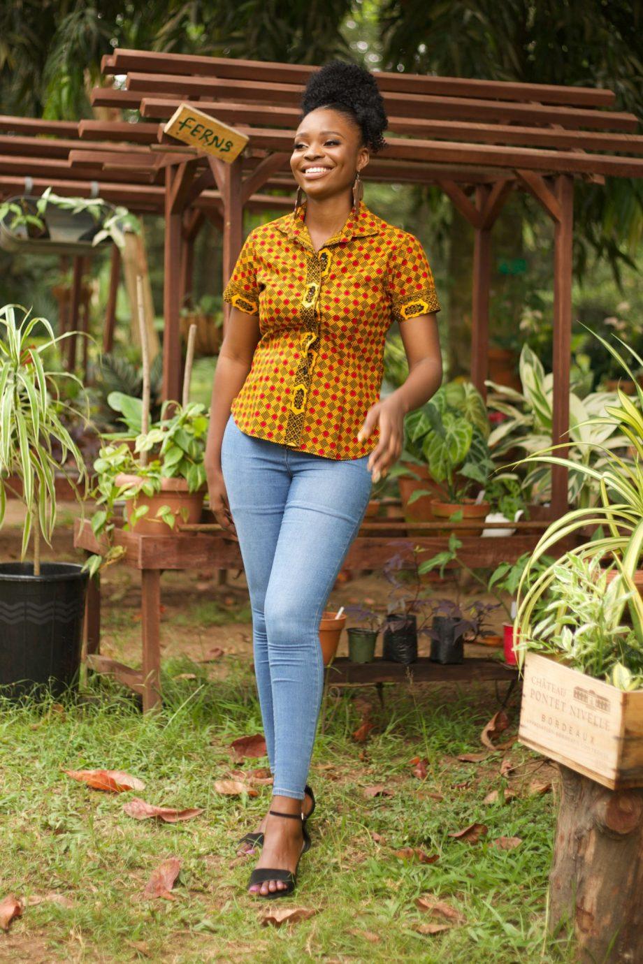 African Print Ankara Shirt for Women by Naborhi
