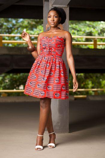 African Print Ankara Strapless Skater Dress - JELA by Naborhi