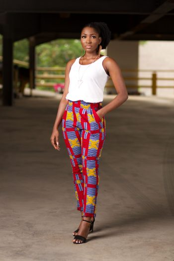 African Print High Waist Trousers - NAADE by Naborhi