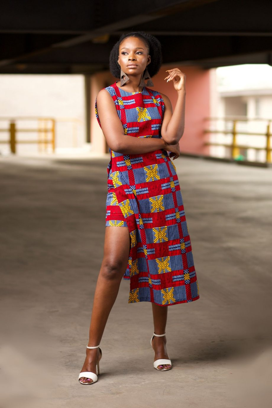 African Print Long Tunic and Matching Shorts Set - NAADE by Naborhi