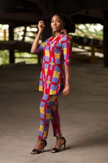 Ankara Tunic and Matching High Waist Trousers - NAADE by Naborhi