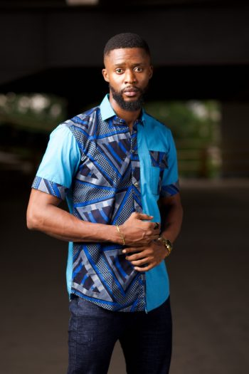 Blue Ankara Mens Shirt - YINKA by Naborhi