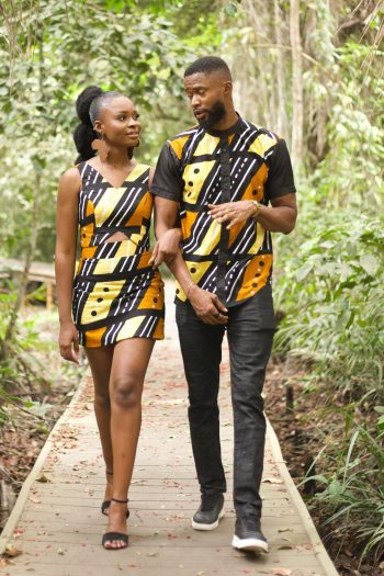 Couple in Matching Afrian Print Outfit - TAIWO by Naborhi