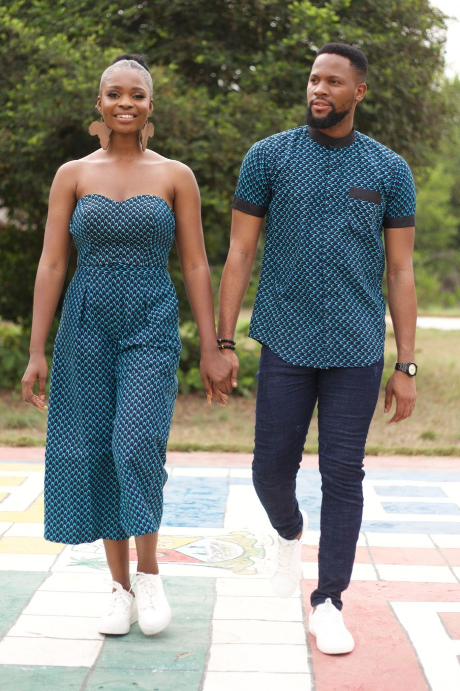 Couple in Matching African Outfits - MOSI by Naborhi