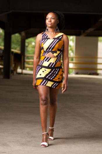 Crop Top and Matching Mini Skirt in African Print - TAIWO by Naborhi