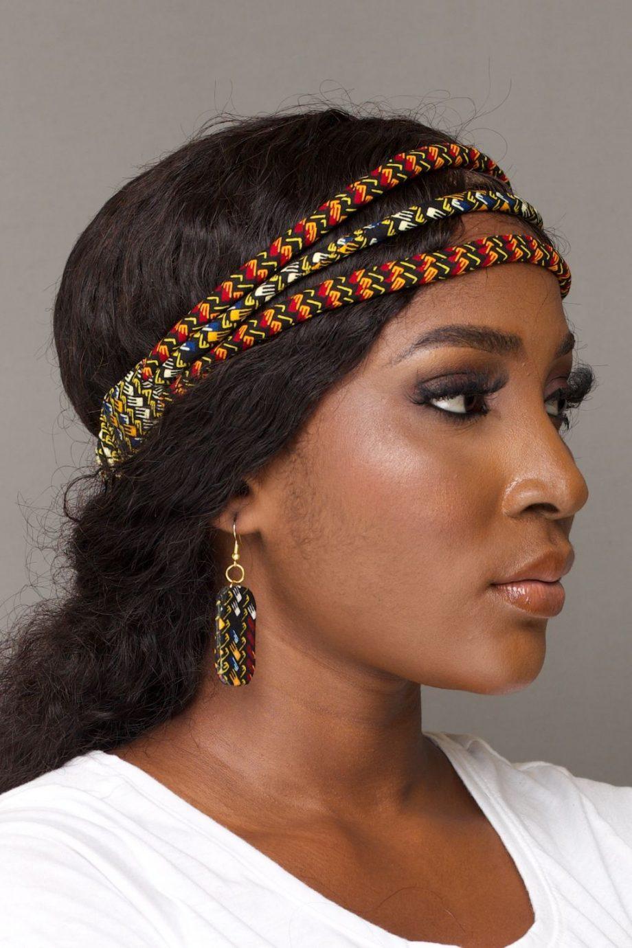 DELE Multi Row Ankara Headband by Naborhi