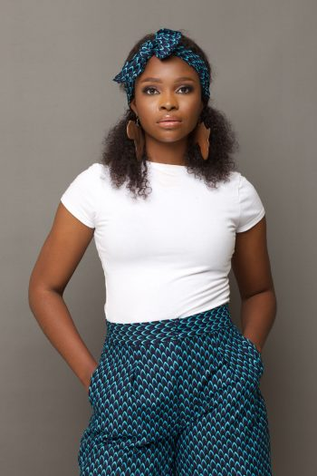 MOSI Ankara Tie Front Headband and Matching Culottes by Naborhi