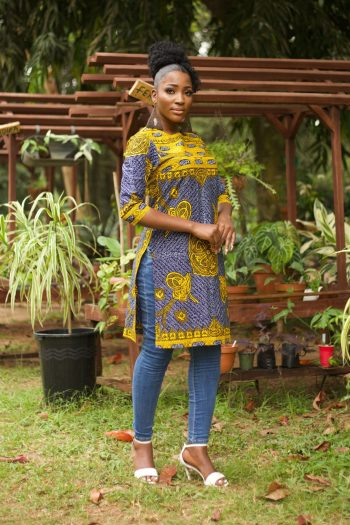 RABIRAH African Print Ankara Tunic with Side Splits by Naborhi
