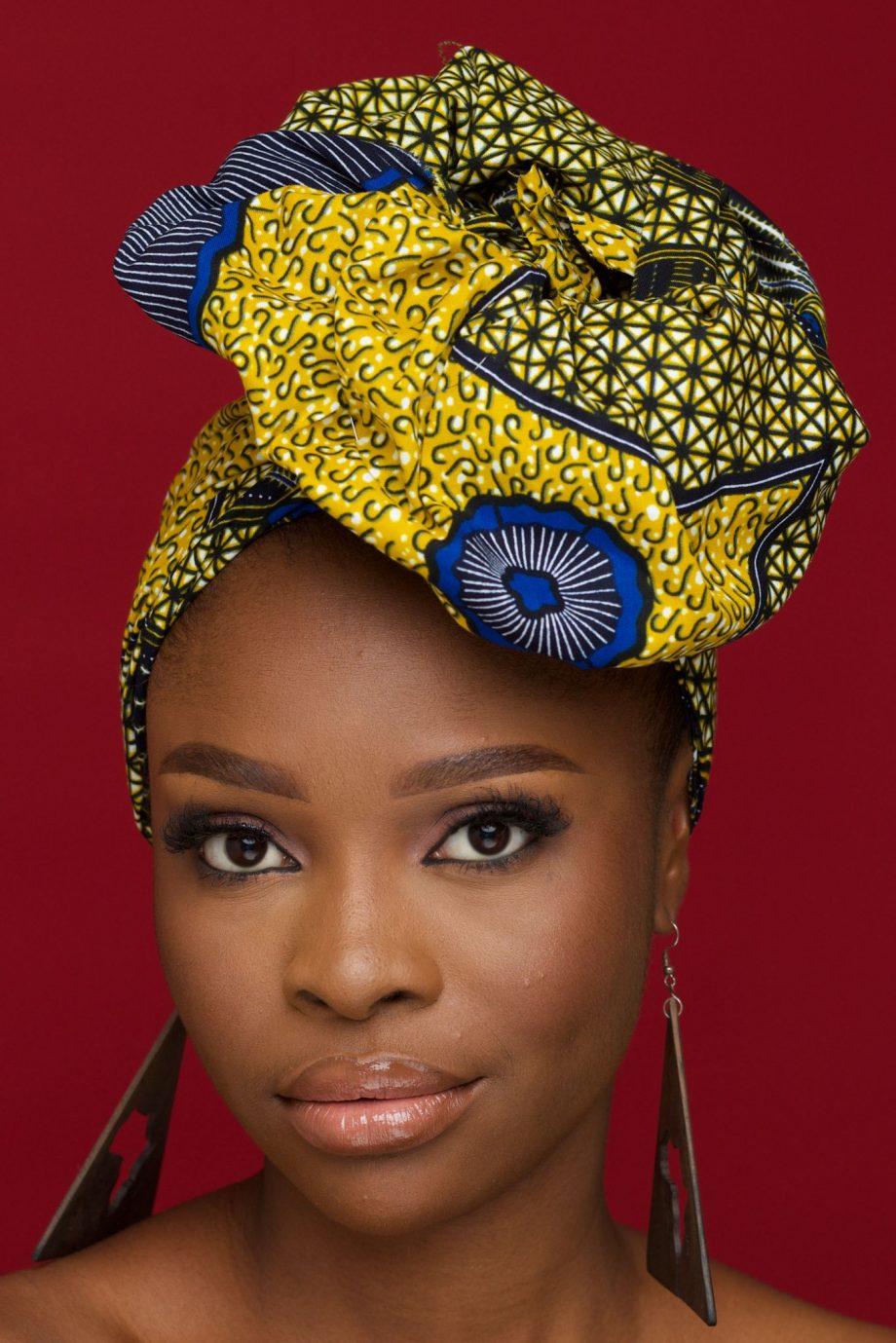 Yellow African Print Head Wrap by Naborhi - KETA