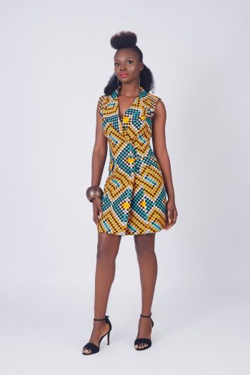Dresses With African Print the Kya Blazer Dress
