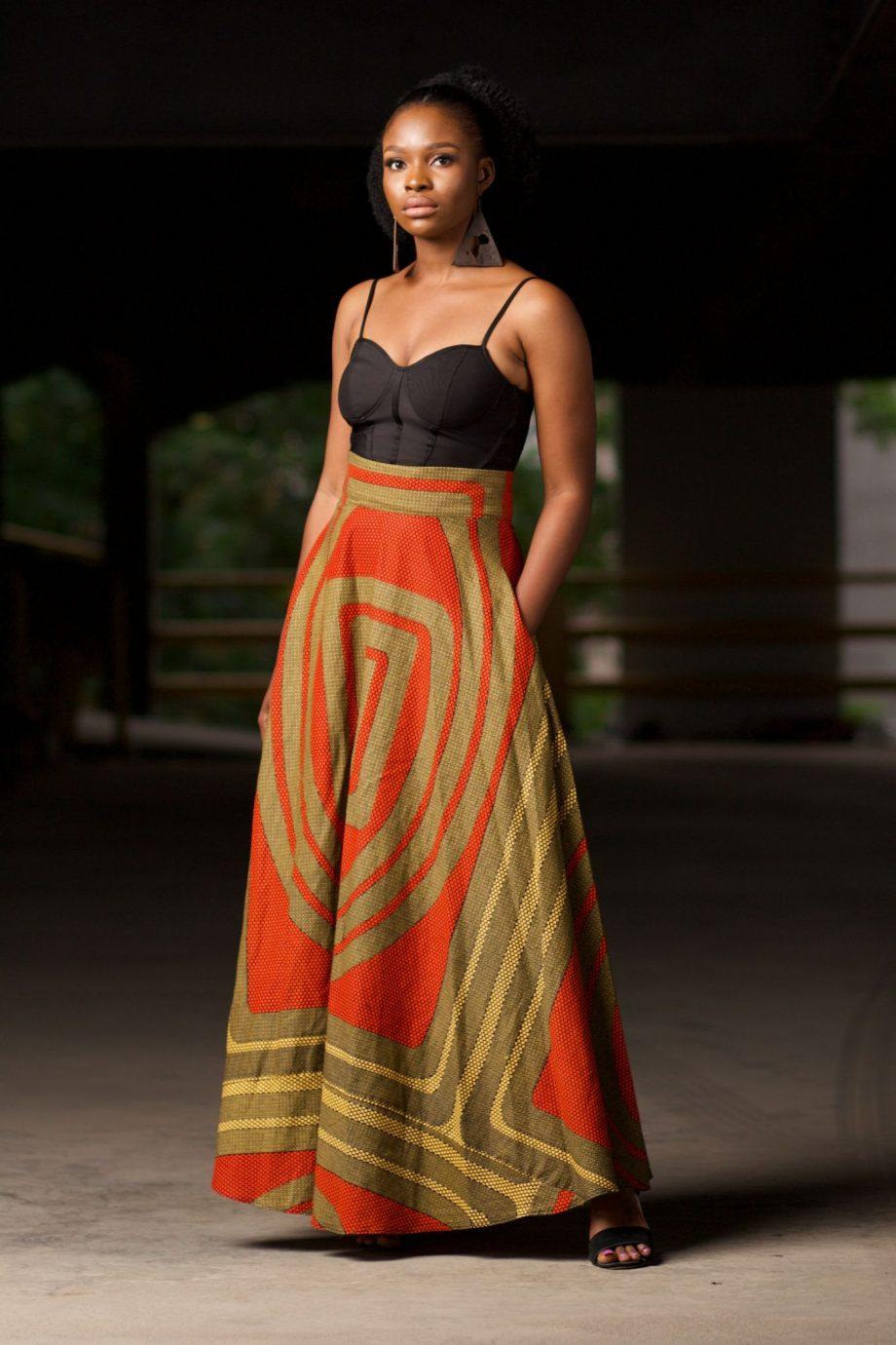 African Print Ankara Maxi Skirt - Alero by Naborhi