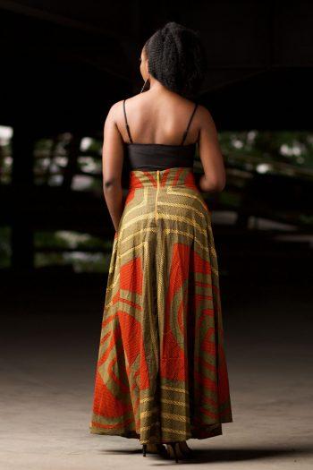 Ankara Flared Maxi Skirt Alero by Naborhi - Long African Skirts by Naborhi