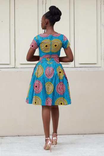 Zola African Print Crop Top and Skirt Suit Back