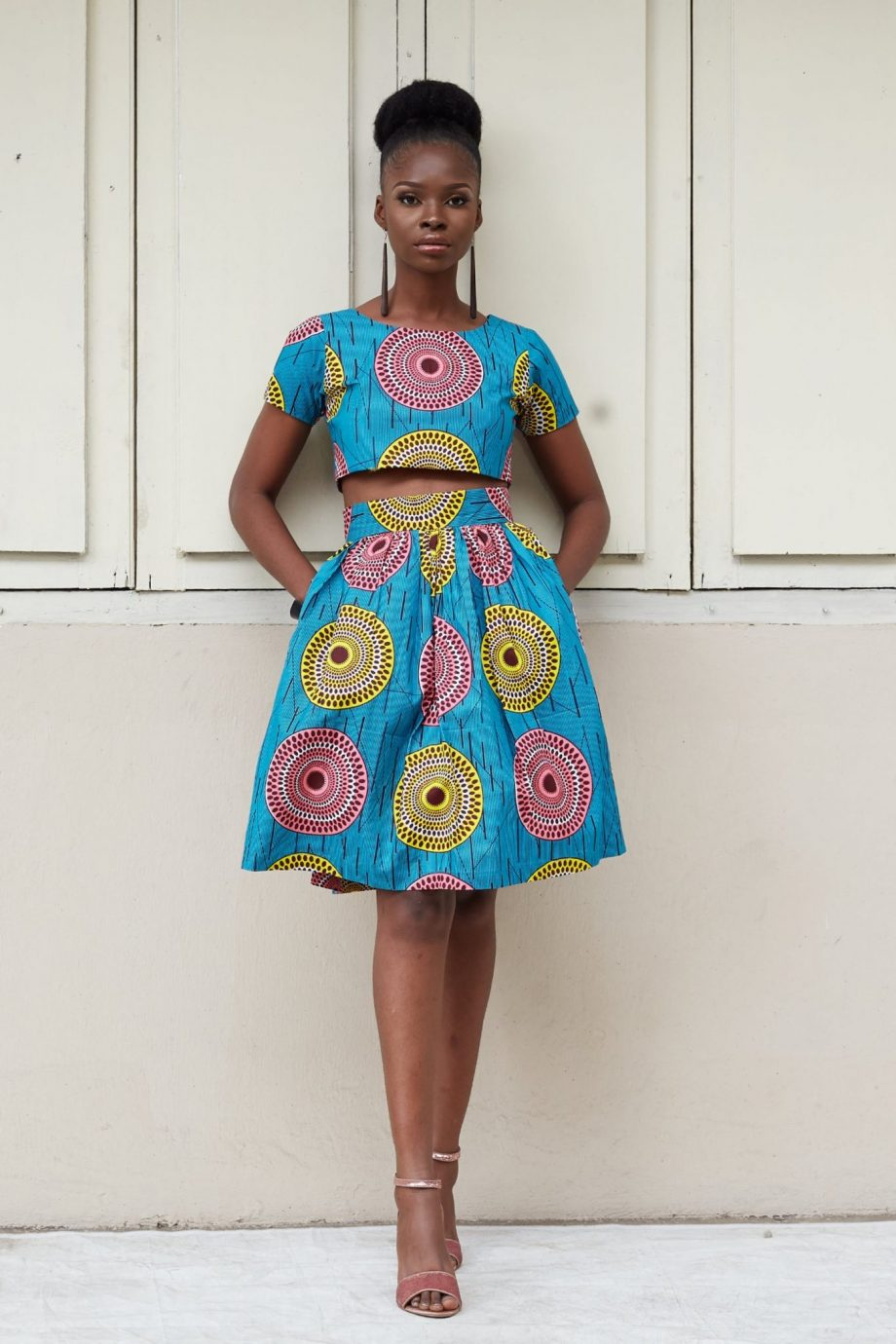 Zola African Print Crop Top And Skirt Set