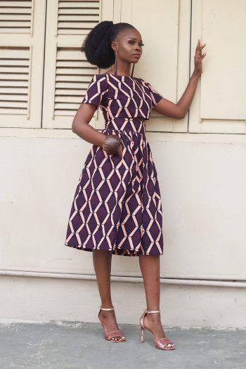 Alika African Print Crop Top and Midi Skirt