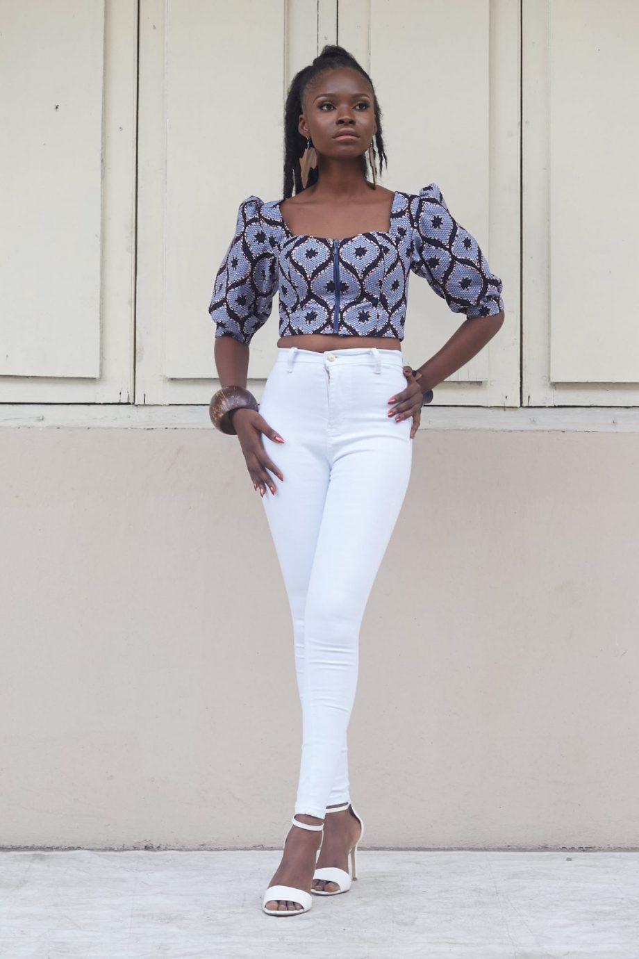Alika African Print Crop Top
