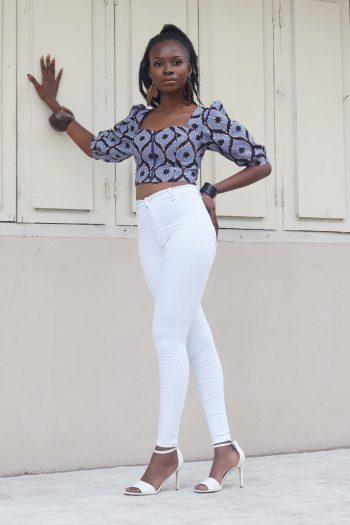 Alika African Print Puff Sleeve Top