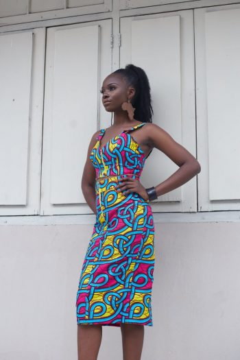 Kali African Print Zip Front Skirt And Top