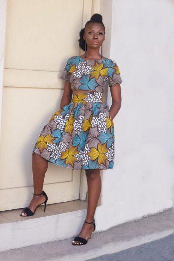 Zuri African Print Crop Top and Skirt