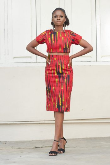African Print Pencil Skirt and Top