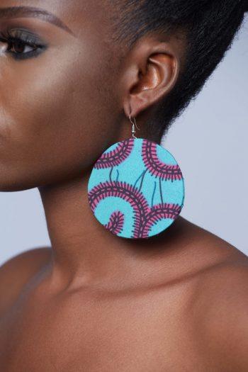 Aina African Earrings Blue