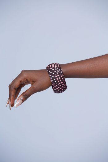 African Bracelets - Asis Ankara Polkadot Bracelet