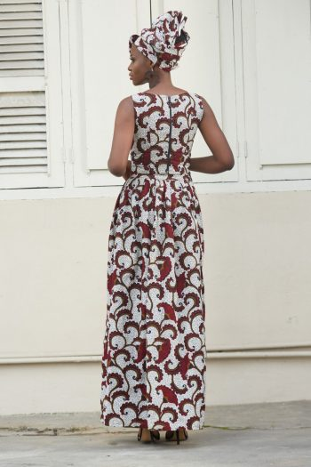 African Crop Top and Long Skirt
