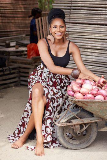 Dakarai African Print Maxi Skirt with Side SPlit