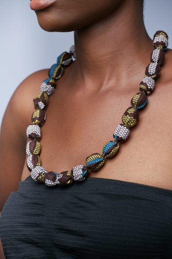 African Necklaces - Kente Beaded Necklace