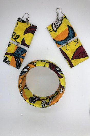 Tahira Ankara Jewellery Set Yellow