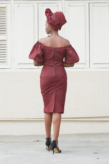 African Print Skirt and Top Set Keyshia