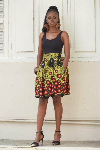 Zemora Ankara Mini Skirt - Ankara Fashion Design and Style at Naborhi