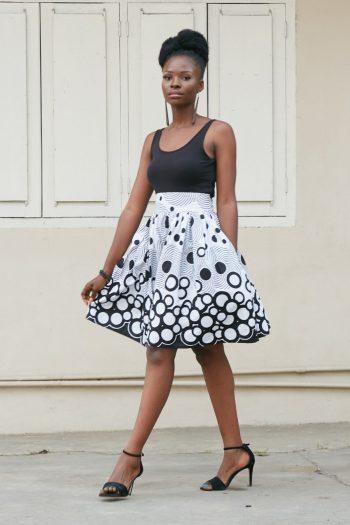 Ankia White African Skirt
