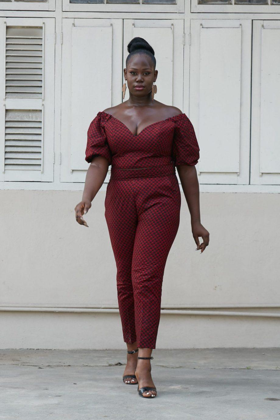 Keyshia African Print Pants Suit