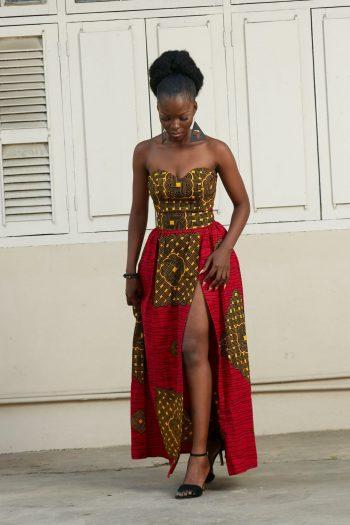 Sade African Skirt Set - Crop Top and Maxi Skirt