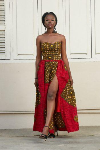 Sade Ankara Maxi Skirt and Crop Top