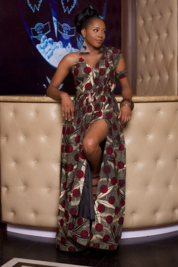 African Print Maxi Dress - African Dresses for Women - NABORHI