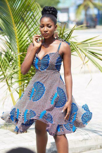 African Ankara Dress Desta - African Clothing for Women - Naborhi