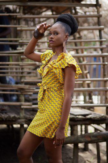 African Print Ankara Dress Janoma - Short African Dresses by Naborhi