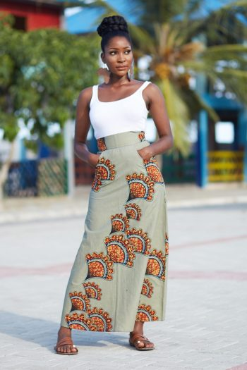 African Print Maxi Skirt Akuada - African Skirts by Naborhi