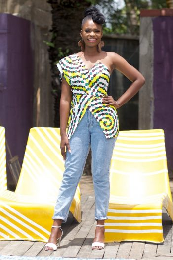 African Print One Shoulder Top Almasi by Naborhi