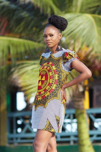 Short African Dress Adita - African Print Ankara Dresses by Naborhi