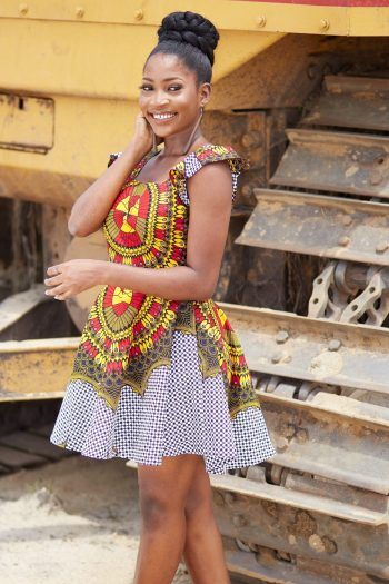 Short African Dress - Daisha - African Clothing by Naborhi