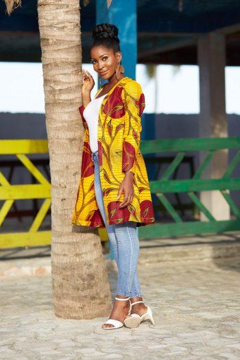 African Print Ankara Kimono - African Jackets - Naborhi