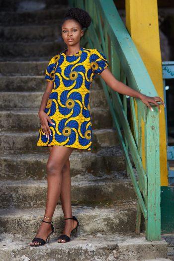 African Print Short Dress Noyo - African Shift Dresses - African Fashion - Naborhi