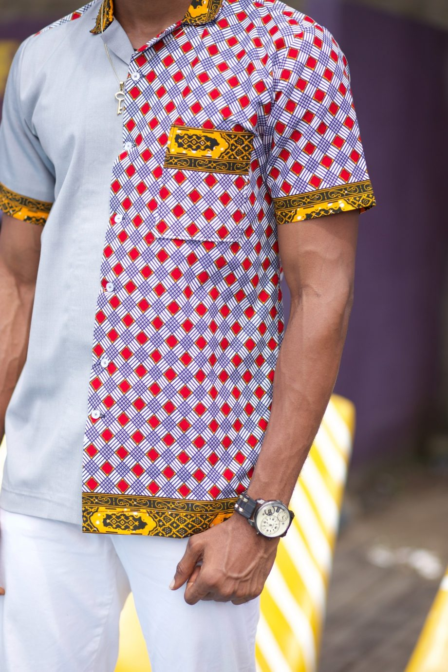 African Ankara Shirts for Men - Ayanda Ankara Shirt by Naborhi