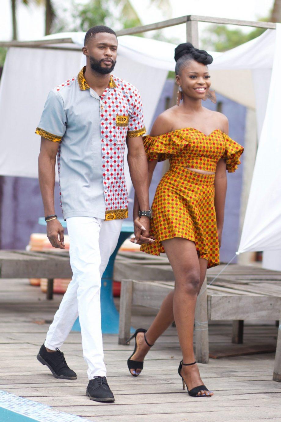 African Couples Outfits - Ayanda Ankara Set by Naborhi