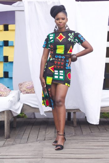 African Crop Top and Matching Skirt Azuka by Naborhi