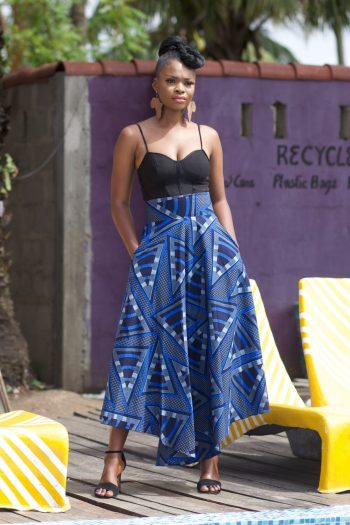 African High Low Maxi Skirt Efe by Naborhi